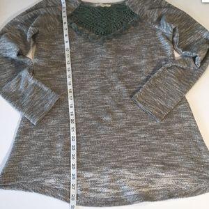 Anthropologie Tops - Anthropologie Entro Green Boho Tassel Sweater Top